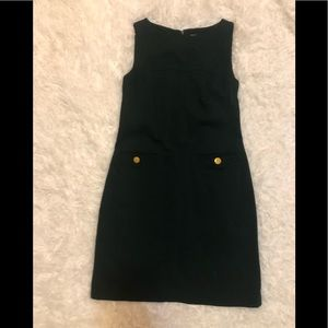EUC strapless suit dress with front pockets.